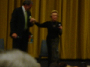 Blurry pic of Tippi Hedren