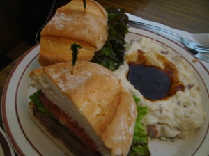 The roast beef sandwich
