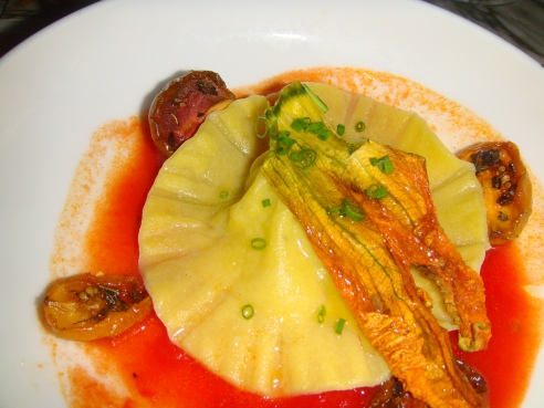 The Baccala and Potato ravioli