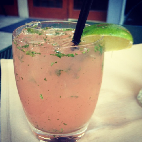 Watermelon cialntro tequila infused margarita