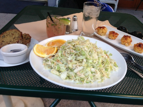 My complete dinner with zucchini bread